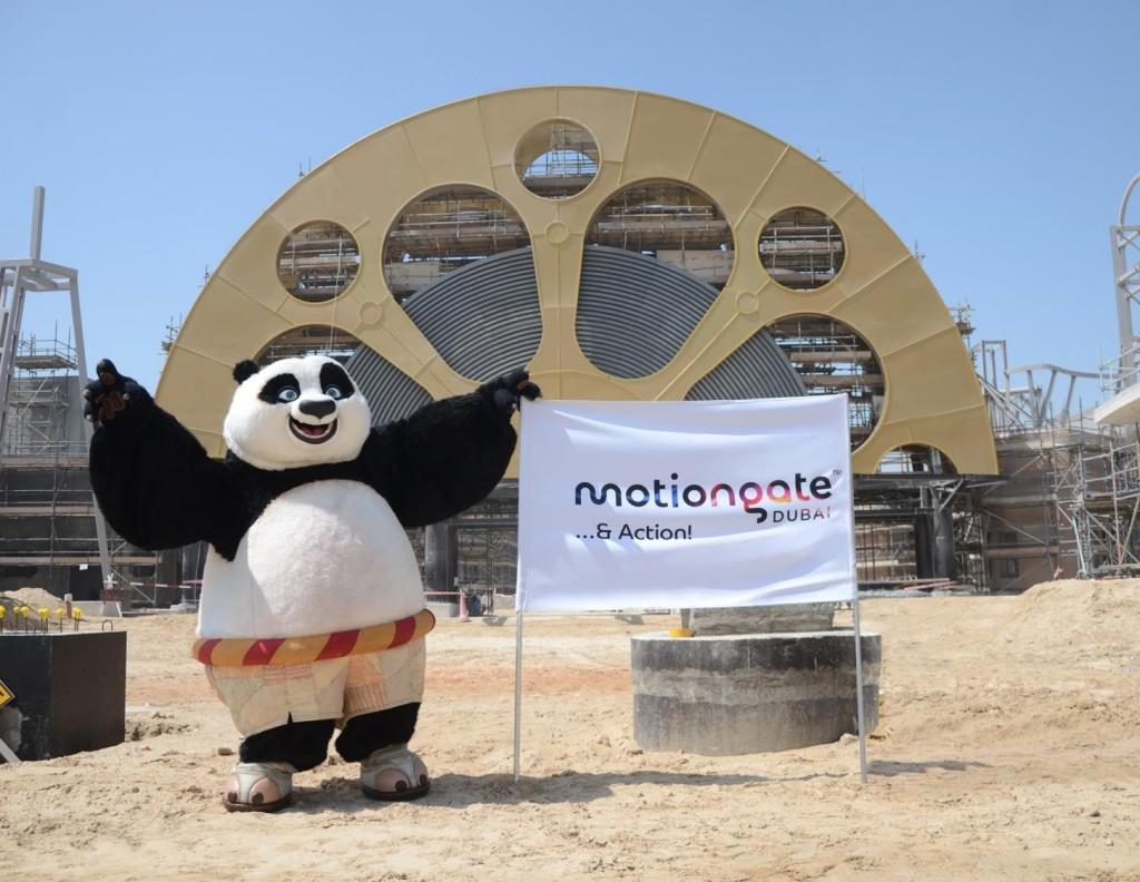 Po at motiongate Dubai main gate - web