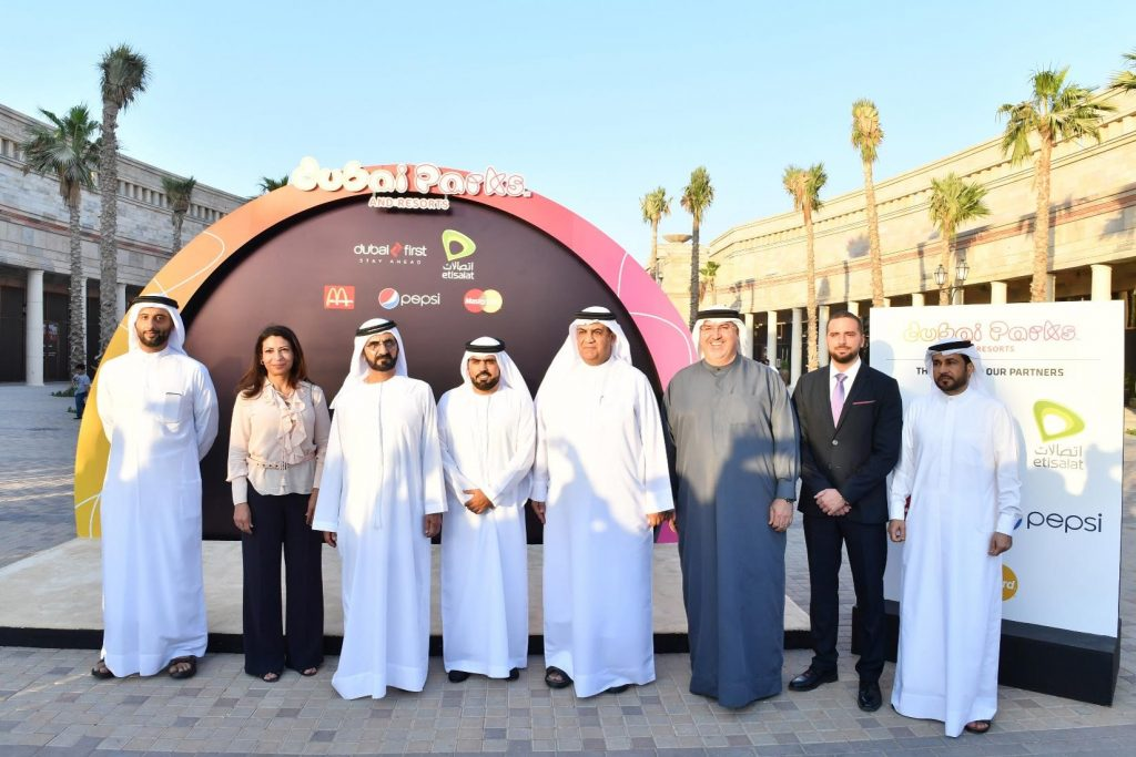 Mohammed Bin Rashid Meets With Dubai Parks and Resorts Corporate