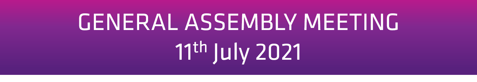 General Assembly Meeting 9th March 2021